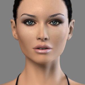 visage virtuel symetrique